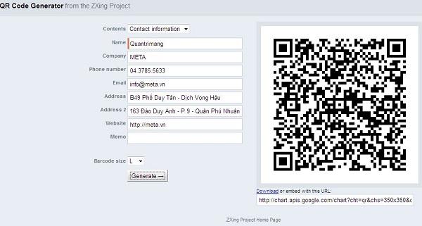 trang web tao ma qr code online