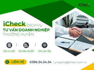 iCheck cung cấp nhiều gói dịch vụ tư vấn pháp lý cho doanh nghiệp xuyên suốt